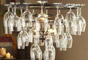 Modern Dining Room with Wine glass chandelier rack