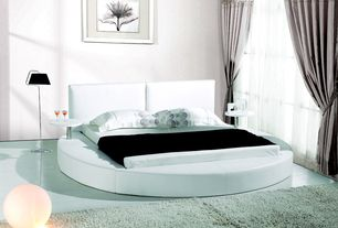 Contemporary Master Bedroom with Smart & Green Globe LED Cordless Lamp, EVE Leather Round Bed King