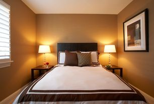 Contemporary Guest Bedroom with Lamp works estrella orb crystal table lamp, Luxor Treasures Hotel Collection Duvet Set