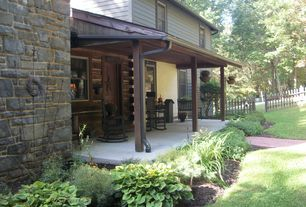 Contemporary Porch with Screened porch, Fence, Pathway