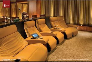 Contemporary Home Theater with Bass deco penthouse home theater loveseat, Carpet