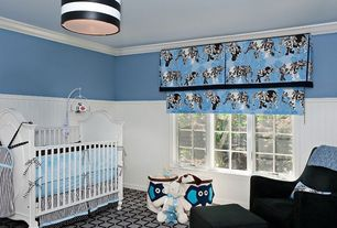"Modern Kids Bedroom with Dhi enzo arm chair, Shades of Light 16"" Euro Fitter Deck Stripe Drum Shade"