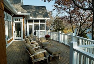Cottage Deck with French doors, Transom window