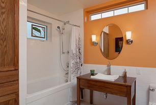 Contemporary Full Bathroom with Nuvo Lighting 60/4261 Polished Chrome Teller Single Light Bathroom Fixture