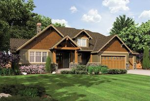 Craftsman Exterior of Home with Exteria hand split shake siding - 1/2 square, Paint 1
