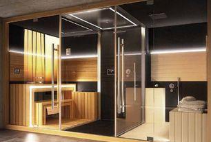 Contemporary Master Bathroom with Sauna