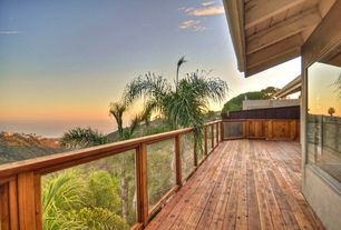Tropical Deck with Deck Railing, picture window