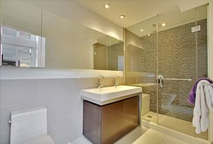 Contemporary Master Bathroom with Paint, Duravit vero above counter porcelain bathroom sink