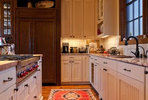 Traditional Kitchen with Cuisinart Grind and Brew Coffee Maker, Wolfe gas cooktop