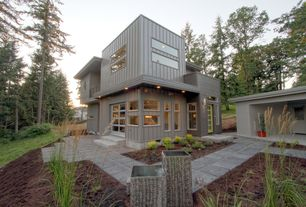 Contemporary Exterior of Home with Paint 2, Paint 1