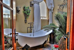 Eclectic Master Bathroom with Randolph morris 70 inch acrylic double slipper clawfoot tub, Paint