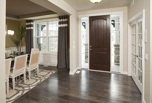 Traditional Entryway with French doors, specialty door, Standard height, flush light, Hardwood floors