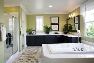 Master Bathroom with Paint, Ikea ribba frame, Kohler k-1156 bancroft drop in bath