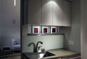 Contemporary Kitchen with Lichtprojekte tube pendant v, Absolute Concrete Works Countertops, One-wall, Flush