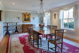 Traditional Dining Room with GS Furniture Classic Side Chair, Rugs america sorrento red medallion area rug, Chandelier