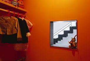 Contemporary Closet with Built-in bookshelf