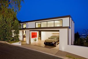 Contemporary Garage with Concrete floors, Standard height