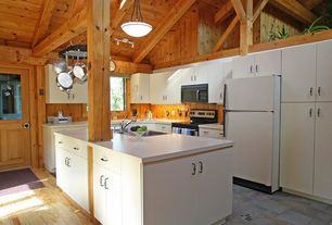 Cottage Kitchen with European Cabinets, Undermount sink, Kitchen island, 4 in. UltraCompact Surface Countertop in Zenith