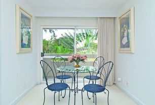 Tropical Dining Room with Carpet