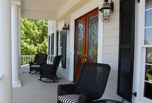 Traditional Porch with Glass panel door, Screened porch
