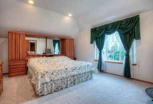 Traditional Master Bedroom with Carpet