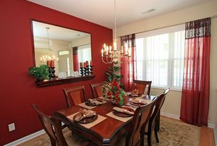 Traditional Dining Room with Hardwood floors, Chandelier