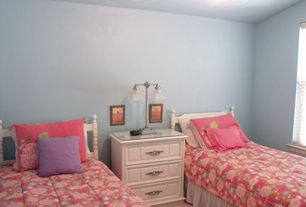 Modern Kids Bedroom with Standard height, Casement, Built-in bookshelf, Carpet, can lights, Bunk beds