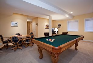 Traditional Game Room with Columns, Carpet