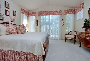 Traditional Guest Bedroom with Carpet, French doors