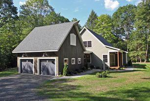 Cottage Garage with Casement, Barn door, Standard height, Concrete floors