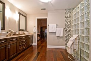 Contemporary Master Bathroom with partial backsplash, Master bathroom, Wall Tiles, Flush, Limestone counters, Shower