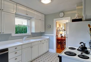 Traditional Kitchen with Galley, Flush, Armstrong 12 ft. wide royelle sheffley black and white residential sheet vinyl