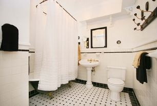 Traditional Full Bathroom with Pedestal sink, Clawfoot