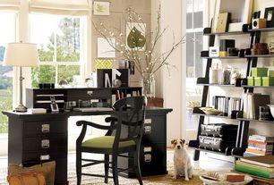 room with West elm jute boucle rug - flax, Pottery barn bedford rectangular desk, Pottery barn studio wall shelf, Paint 2