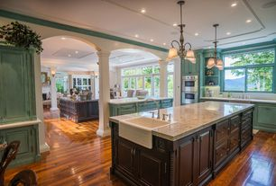 Traditional Kitchen with Paint 1, Pental, gold antique polished granite, Minka lavery belcaro kitchen island pendant, Paint 2