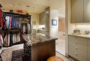 Modern Closet with Stone source, earth glitter, granite black, Built-in bookshelf, simple marble tile floors