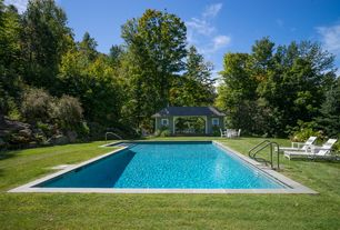 Traditional Swimming Pool with Gazebo, Pathway, Lap pool