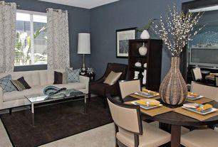 Modern Living Room with Casement, Carpet, Standard height