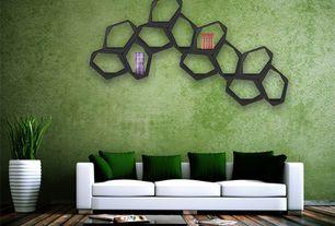 Modern Living Room with Ark Floors Artisan 12mm Laminate in Pecan Acacia, Standard height, Hardwood floors