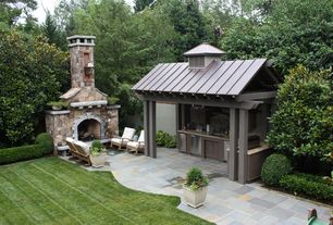 Traditional Patio with Outdoor kitchen, Pathway, exterior concrete tile floors, exterior tile floors