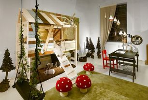Contemporary Playroom with Exposed beam, Carpet