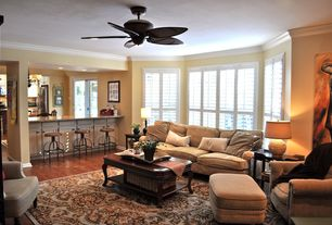 Traditional Great Room with Standard height, Ceiling fan, Hammary cherry grove the new generation coffee table, Paint 1