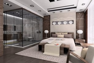 Master Bedroom with can lights, Hardwood floors, Standard height