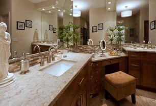 Modern Master Bathroom with MS International Verona Interlocking Mosaic Tile, MS International Navona Travertine