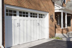 Country Garage with Barn door, Concrete floors, Wall sconce, Standard height