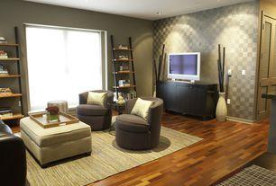 Modern Living Room with Laminate floors, TAVA AREA RUG, Jesper office jesper office parson five tier ladder bookcase