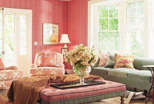 "Traditional Living Room with Daisy 88"" velvet sofa sky blue, Hardwood floors, double-hung window, Standard height"