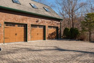 Traditional Garage with flush light, Interlocking Pavers, Skylight, specialty door, Transom window, Standard height