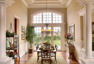 Traditional Dining Room with A-America Bristol Point Gridback Side Chair Set of 2, Wainscotting, French doors, High ceiling