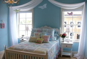 Traditional Kids Bedroom with Carpet, Chandelier, Standard height, double-hung window, no bedroom feature